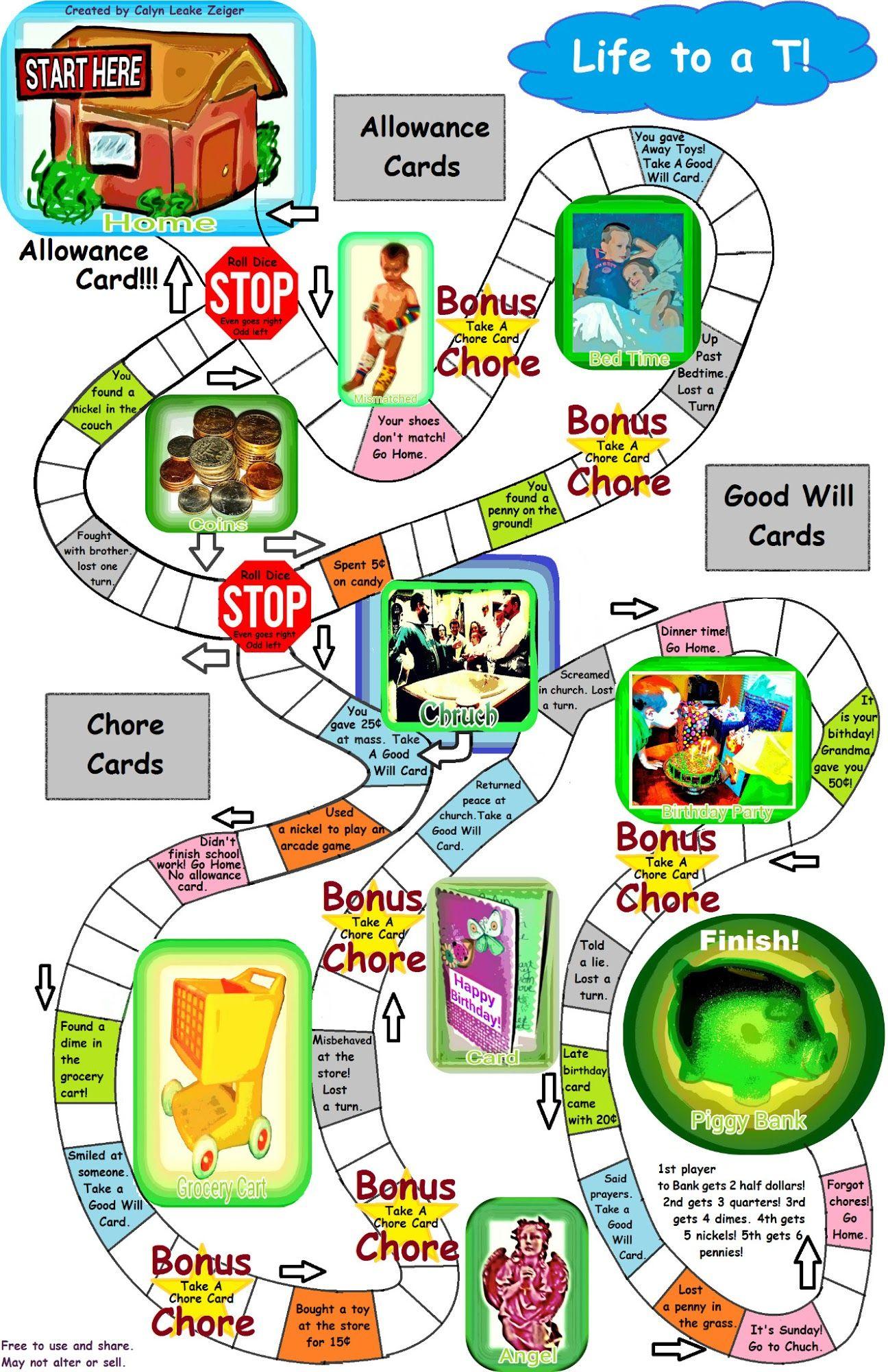 Christian Money Board Game (Printable) | Hands On Math | Pinterest - Free Printable Game Money