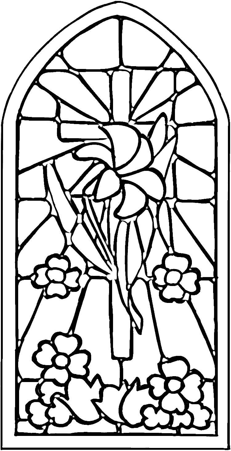 Christian Stained Glass Patterns | Stained Glass Window Coloring - Free Printable Religious Stained Glass Patterns