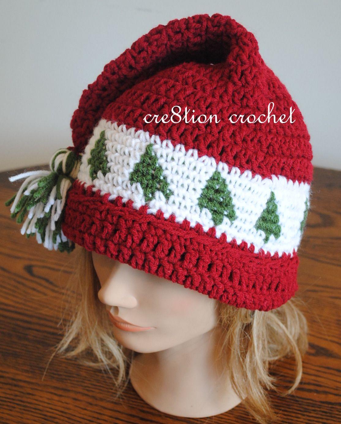 Christmas Cap Crochet Pattern Trees Go Round | Free Baby Crochet - Free Printable Santa Hat Patterns