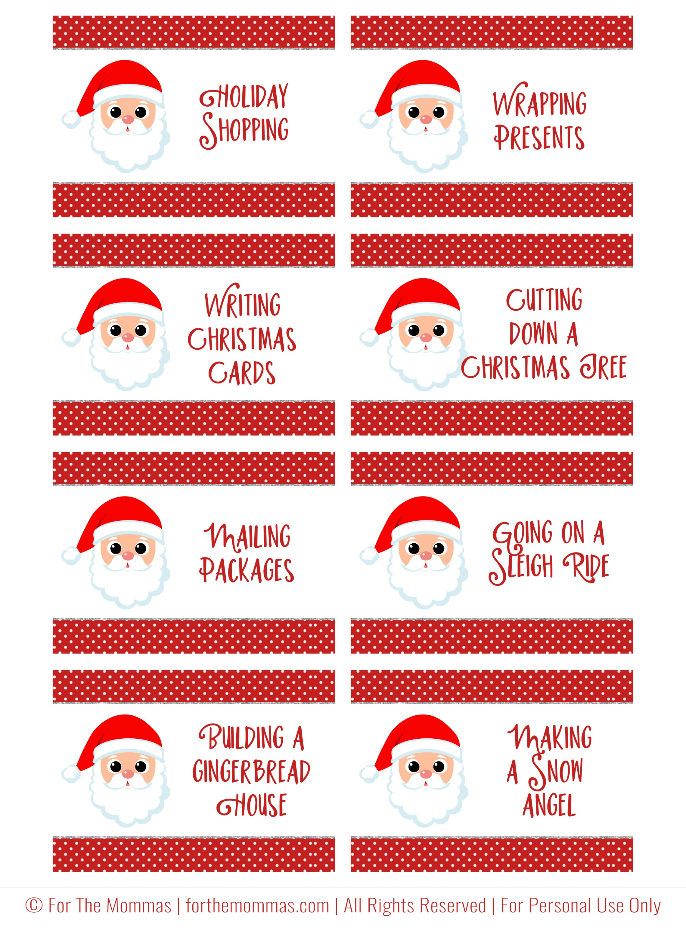 Christmas Charades Free Printable - Start A New Holiday Tradition - Ftm - Free Printable Charades Cards
