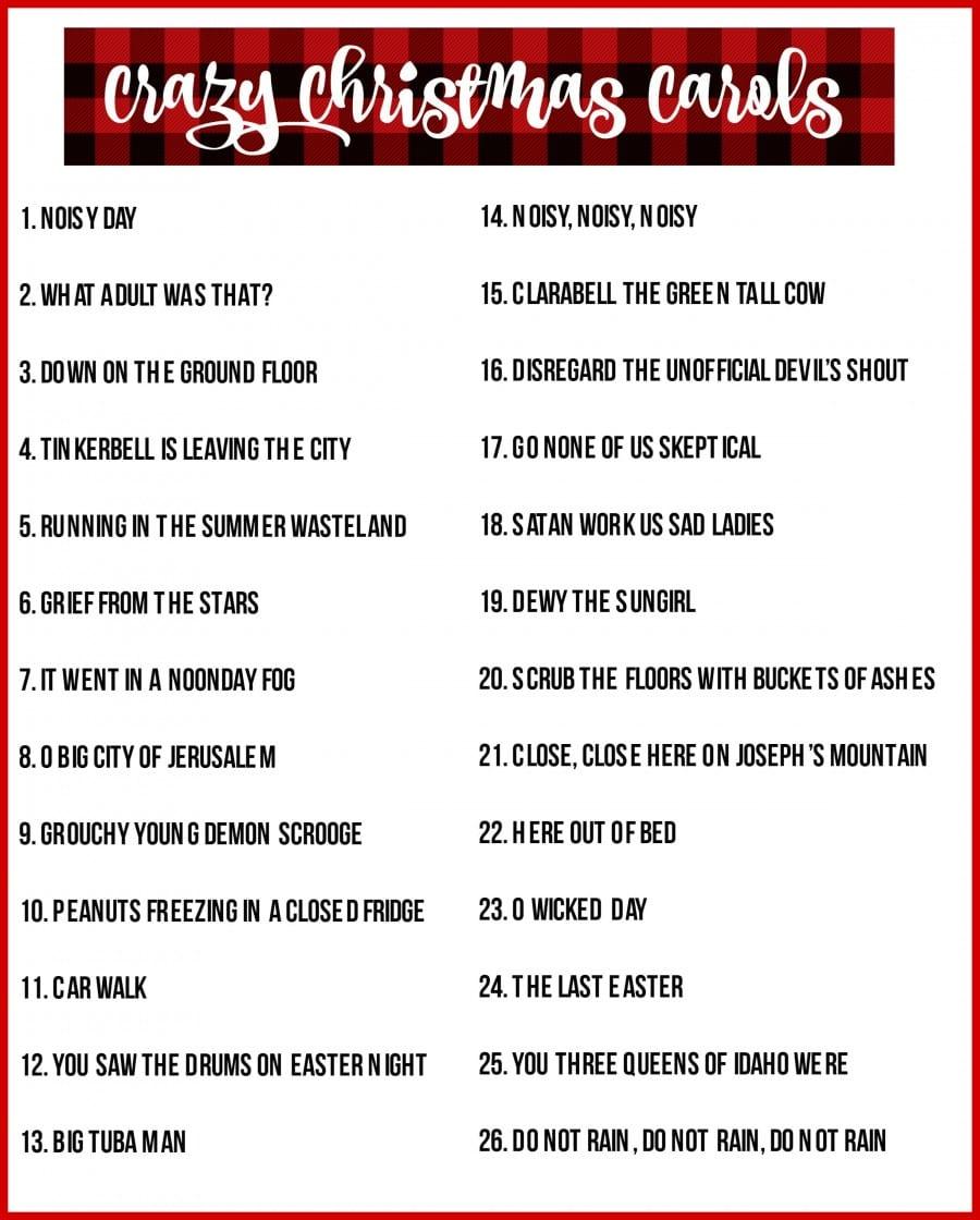 Christmas Charades Game And Free Printable Roundup! - A Girl And A - Christmas Song Scramble Free Printable