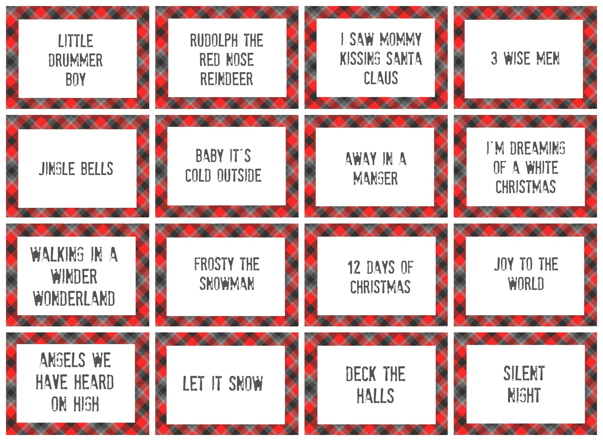 Christmas Charades Game And Free Printable Roundup | Crafting - Free Printable Charades Cards