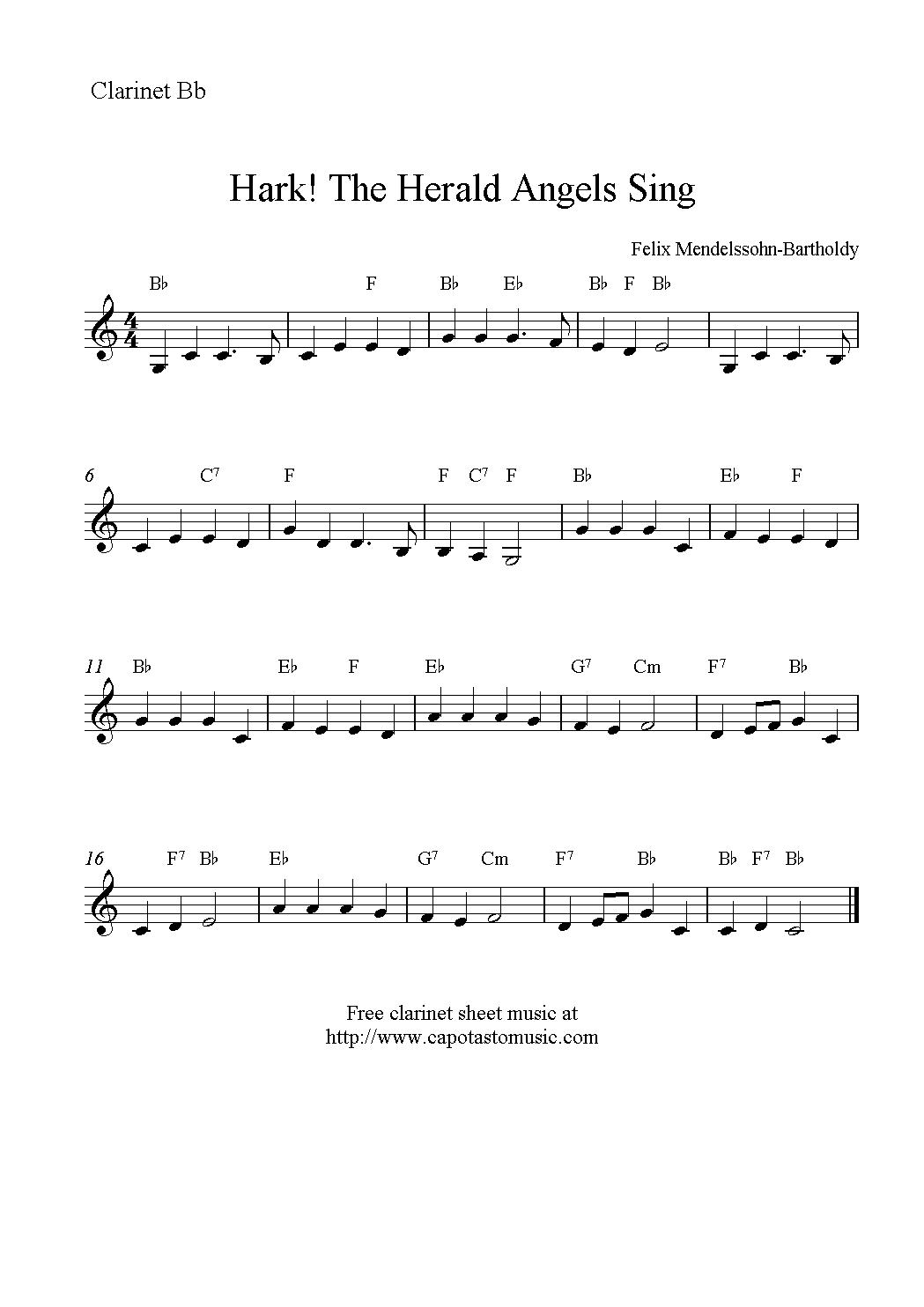 Christmas Clarinet Sheet Music Free - Google Search | Music - Free Printable Clarinet Music