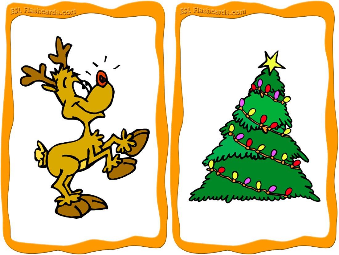 Christmas Flashcards - 23 Free Printable Flashcards - Free Printable Vocabulary Flashcards