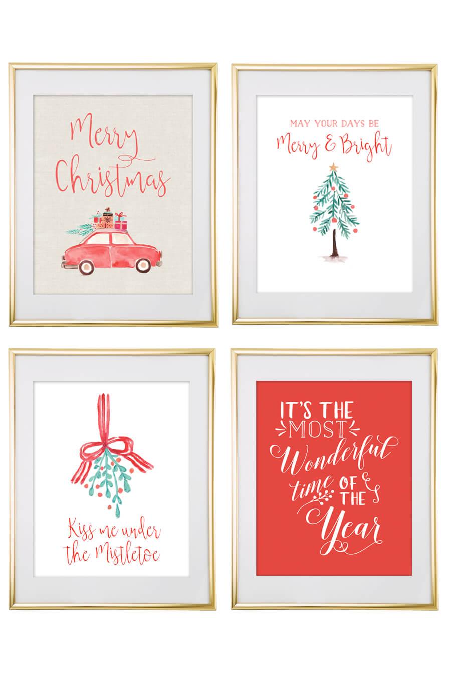 Christmas Free Printable Wall Art - Download Free Christmas Art - Free Printable Christmas Art