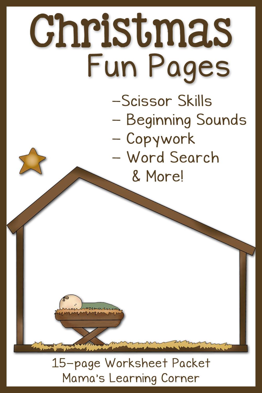 Christmas Fun Pages: Free 15-Page Worksheet Set - Mamas Learning Corner - Christmas Fun Worksheets Printable Free