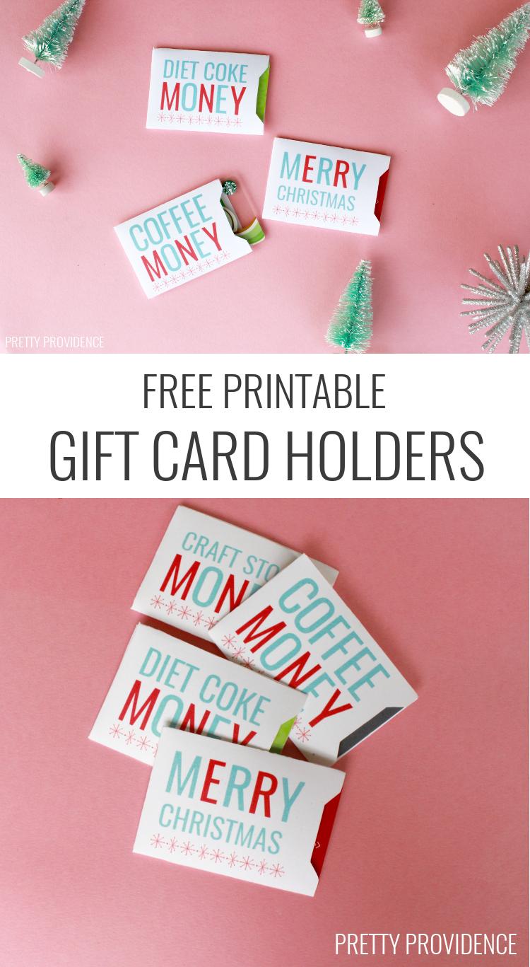 Christmas Gift Card Sleeves - Free Printable! | Holidays | Christmas - Free Printable Christmas Money Holder Cards
