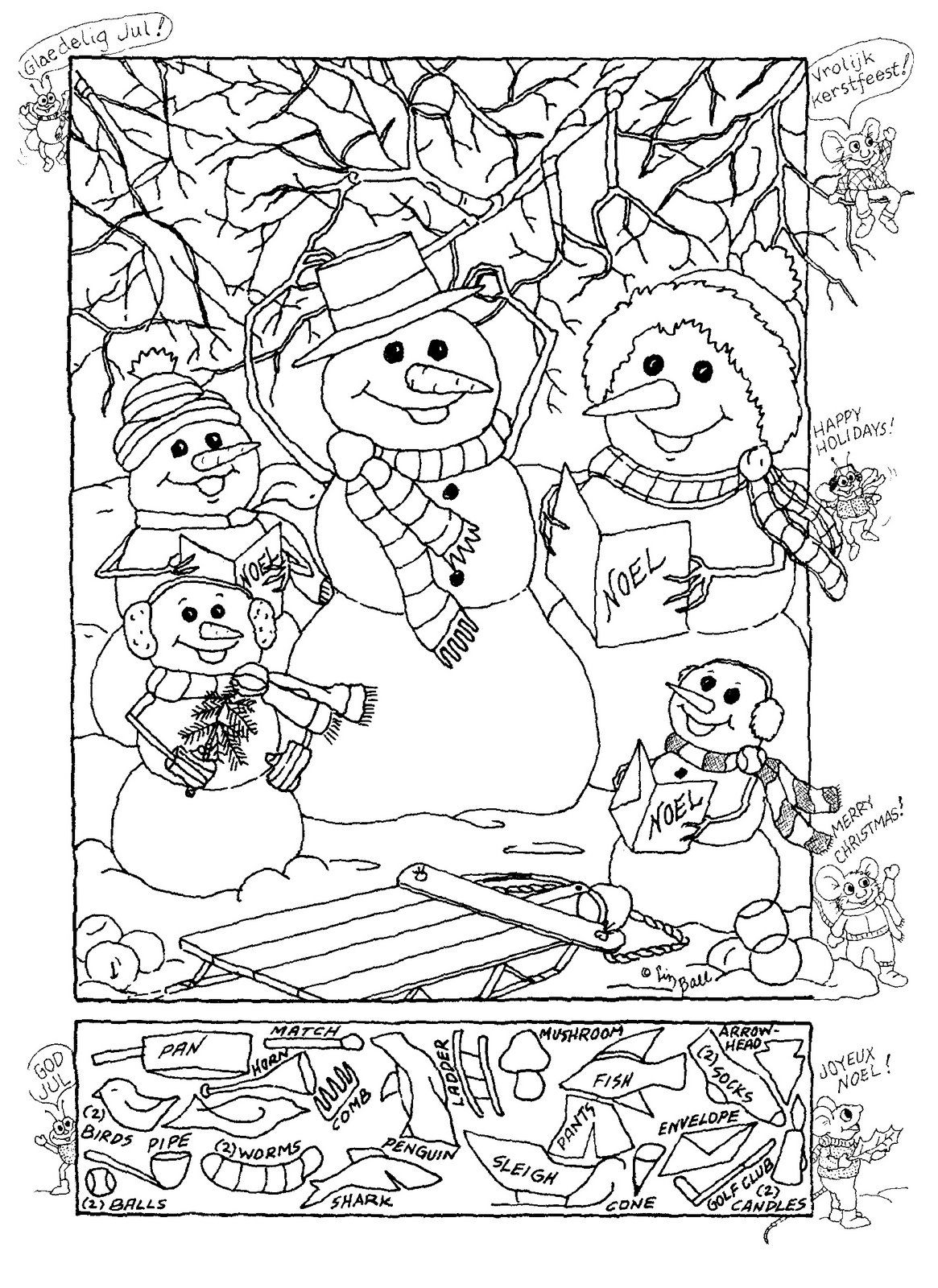 Christmas Hidden Picture | Puzzles-Logic | Pinterest | Hidden - Free Printable Christmas Hidden Picture Games