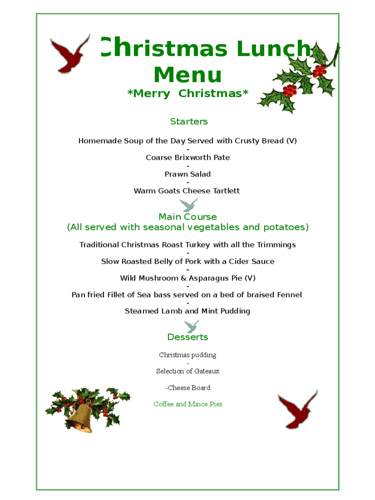 Christmas Menu Template - 17 Free Templates In Pdf, Word, Excel Download - Free Printable Menu Templates Word