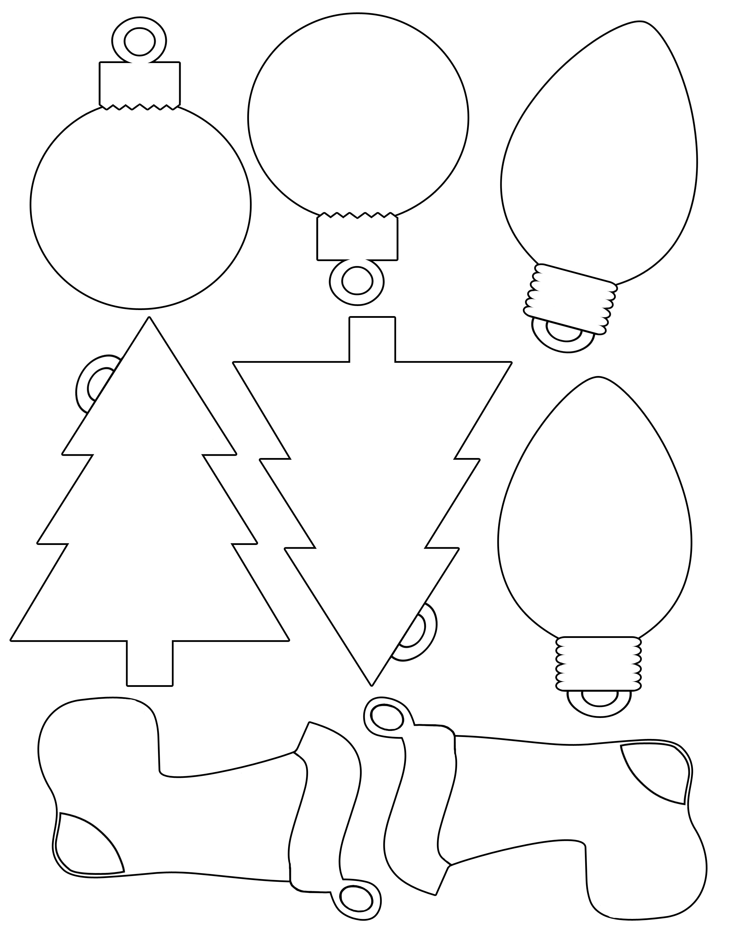 Christmas Ornament Stencils Printable – Festival Collections - Free Printable Christmas Ornaments Stencils