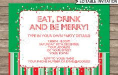 Christmas Party Free Printable Holiday Invitation Personalized – Christmas Party Invitation Templates Free Printable