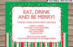 Christmas Party Free Printable Holiday Invitation Personalized – Christmas Party Invitation Templates Free Printable