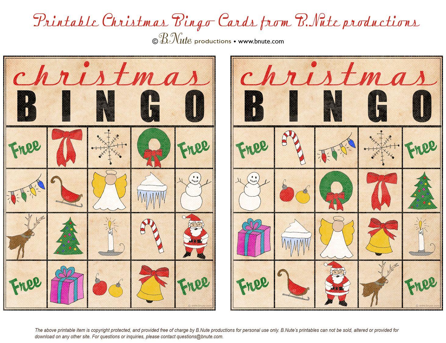 Christmas Printables Images | Free Printable Christmas Bingo Cards - Free Printable Christmas Bingo