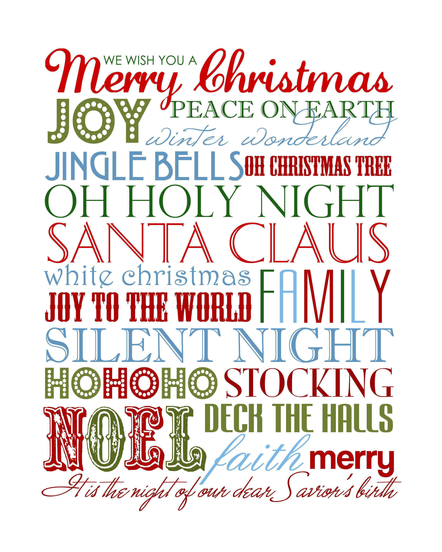 Christmas Subway Art {Free Printable} - How To Nest For Less™ - Free Printable Christmas Art