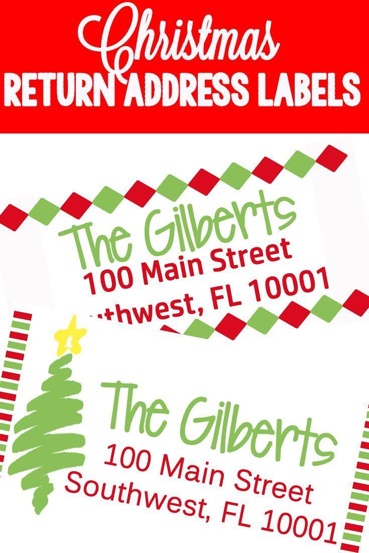 Christmas Themed Return Address Labels   The Ultimate Pinterest - Free Printable Return Address Labels