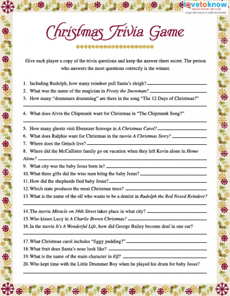 Christmas Trivia Games Within Free Printable Christmas Games For - Free Printable Christmas Games For Family Gatherings