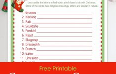 Christmas Word Scramble (Free Printable) - Flanders Family Homelife - Unscramble Word Games Printable Free
