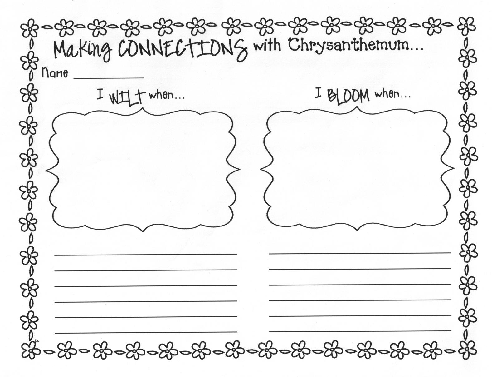 Chrysanthemum Worksheets   Free Printables Worksheet - Chrysanthemum Free Printable Activities
