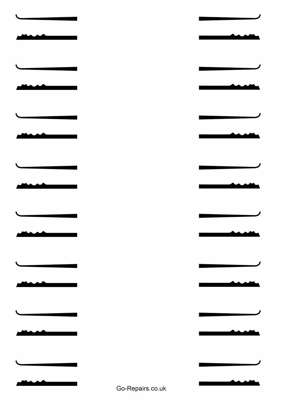 Cia Lock Pick Templates Printable | Www.topsimages - Free Printable Lock Pick Templates
