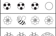 Circle The Picture That Is Different - 4 Worksheets   Preschool Work - Free Printable Toddler Learning Worksheets
