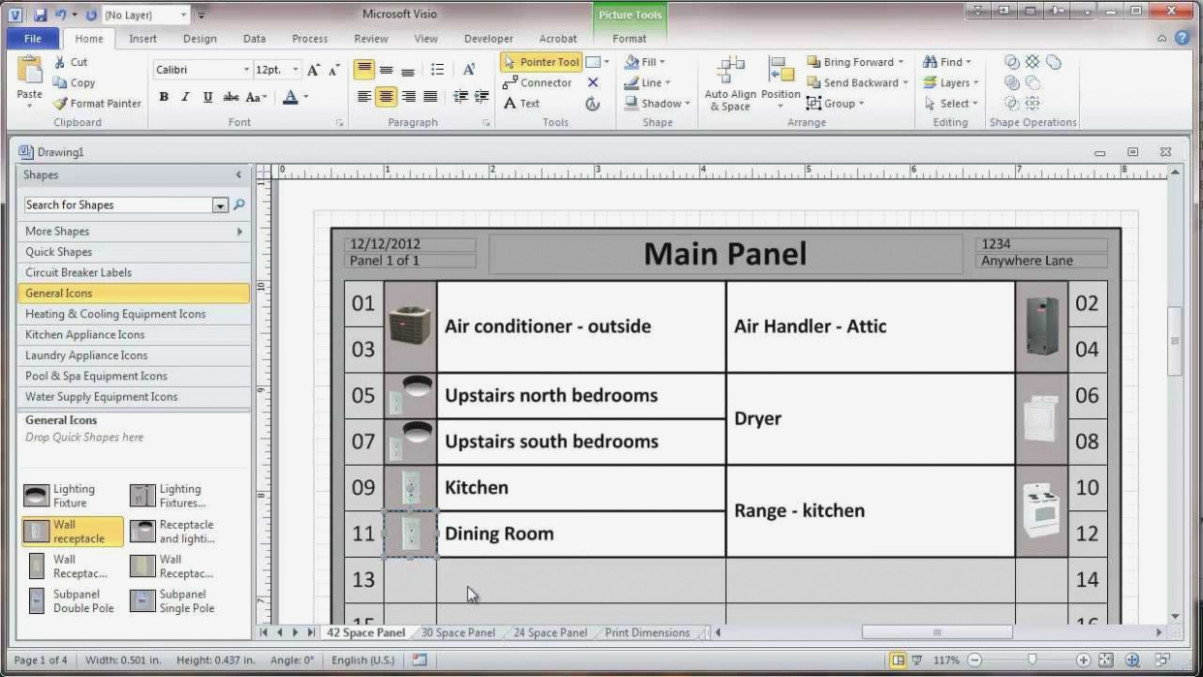 Circuit Breaker Box Label Template Excel – Wiring Diagram - Free Printable Circuit Breaker Panel Labels