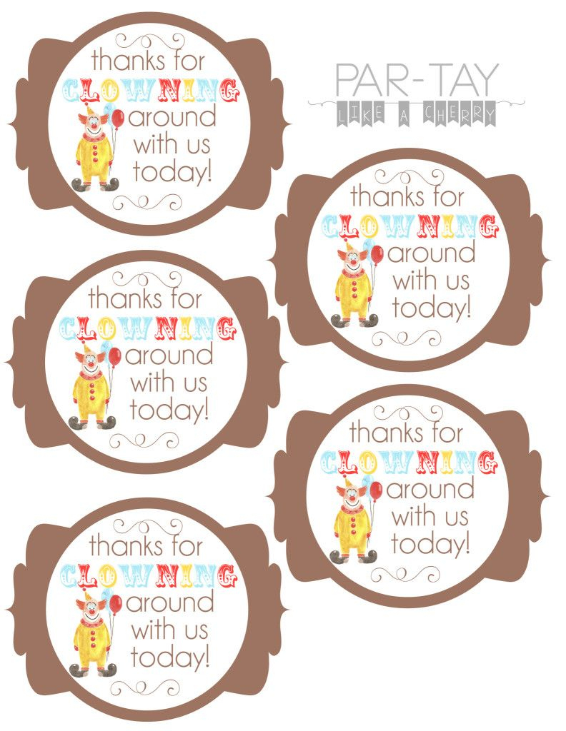 Circus Party Favor Tags | Party Like A Cherry | Pinterest | Circus - Birthday Party Favor Tags Printable Free