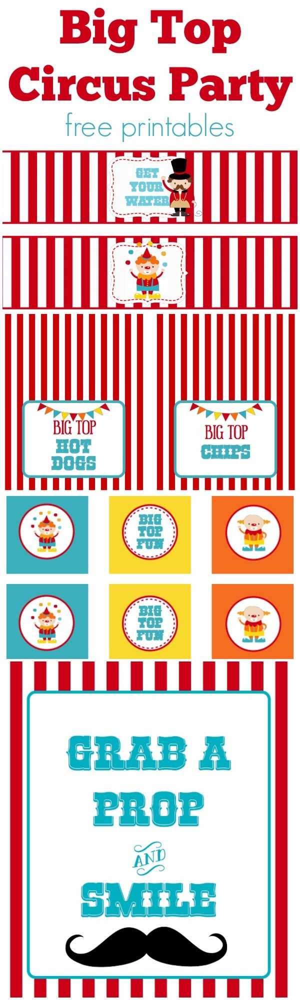 Circus Party | Free Printables | Free Printables | Pinterest - Free Printable Carnival Decorations