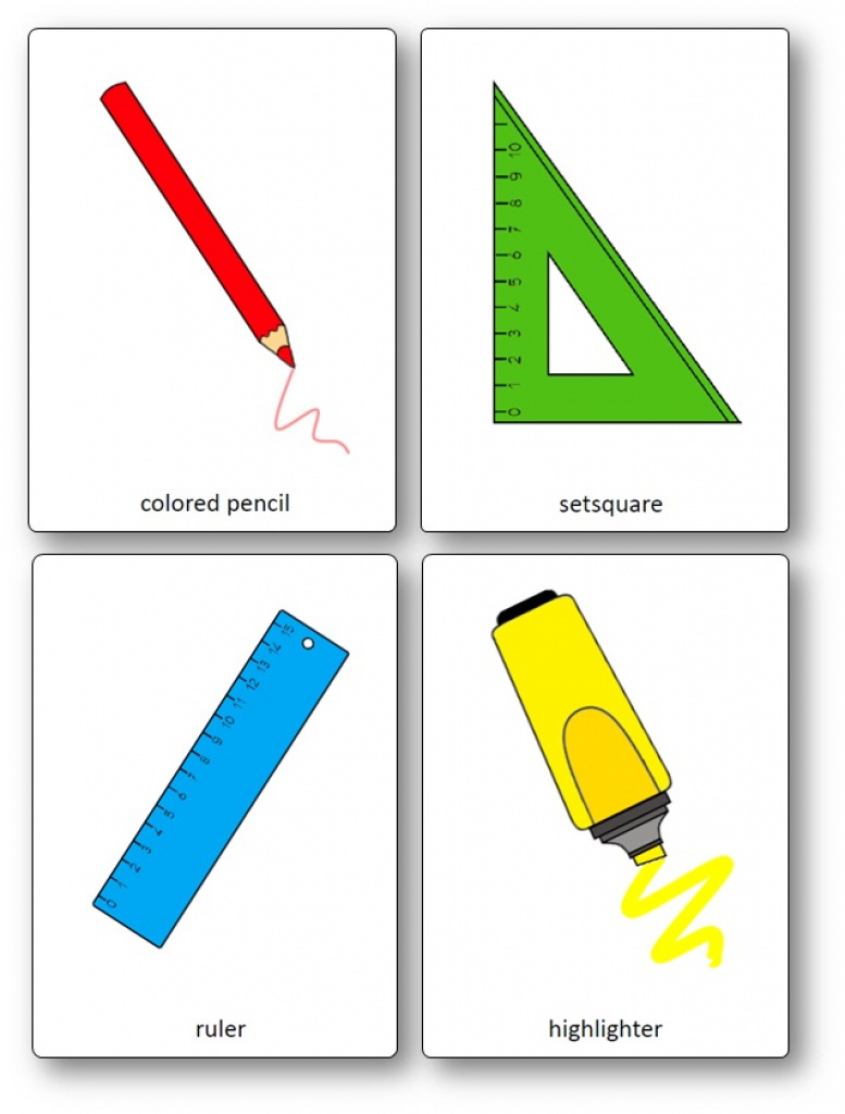 Classroom Objects Flashcards - Free Printable Flashcards - Speak And - Free Printable Vocabulary Flashcards