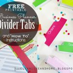 Clean Life And Home: Free Printable: Divider Tabs Pages For Your   Free Printable Dividers
