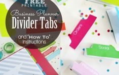 Clean Life And Home: Free Printable: Divider Tabs Pages For Your - Free Printable Dividers