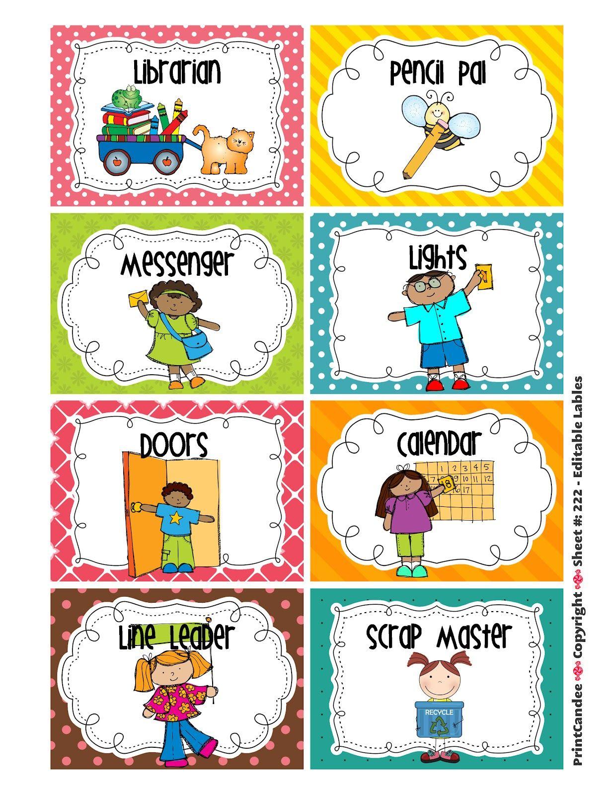 Cleaning Classroom Clipart | Classroom Job Chart | Pinterest - Preschool Classroom Helper Labels Free Printable