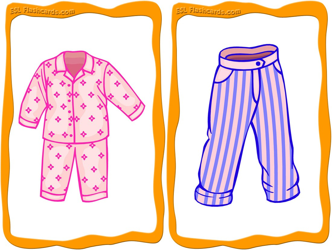 Clothes Flashcards - 32 Free Printable Flashcards - Free Printable Vocabulary Flashcards