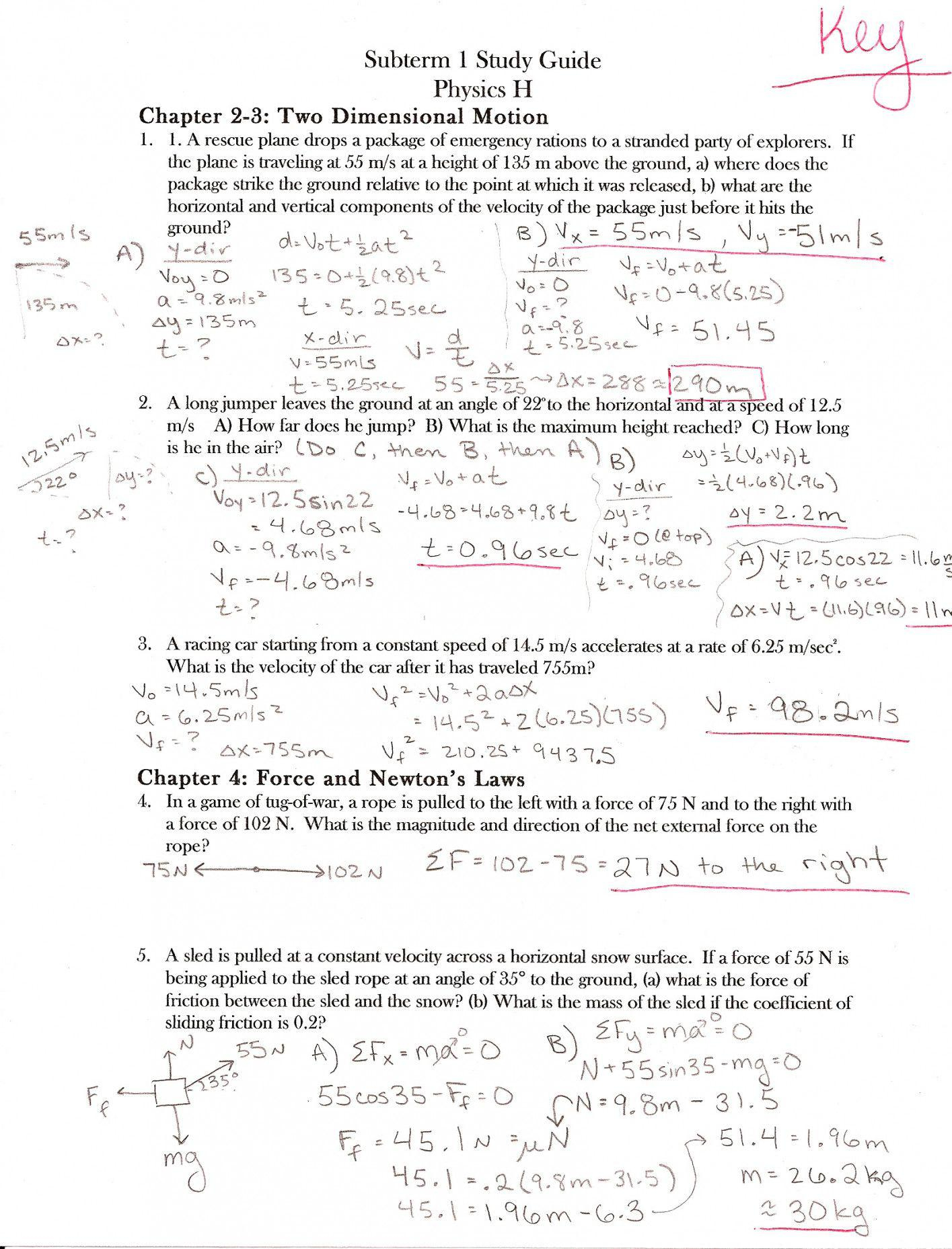 Coefficient Of Friction Worksheet Answers   Lostranquillos - Free Printable Physics Worksheets