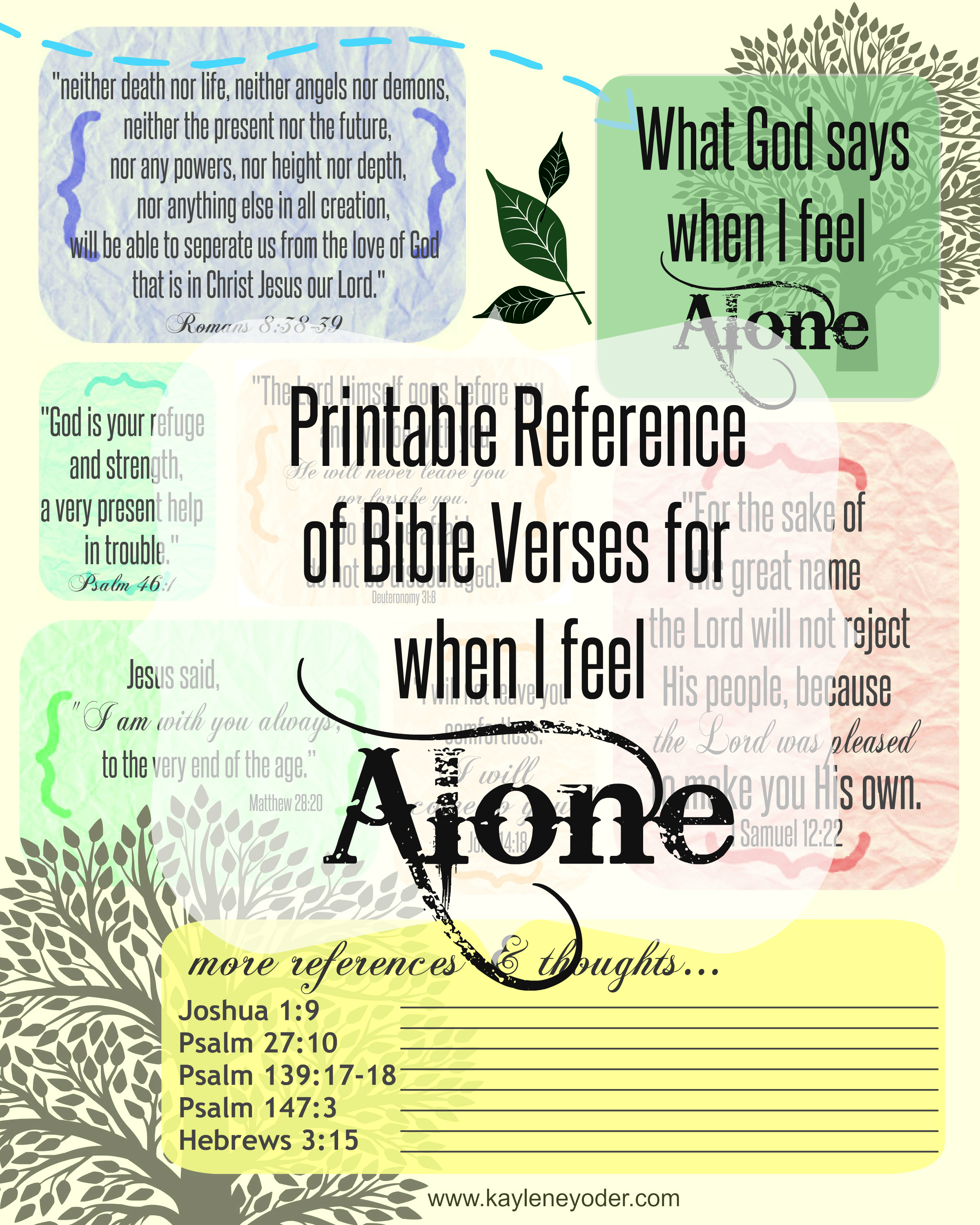 Collection Of Free Printable Bible Verses - Free Printable Inspirational Bible Verses