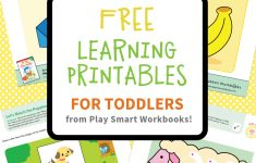 Colorful & Fun Free Printables For Toddlers To Learn From - Free Printable Toddler Learning Worksheets