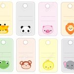 Colorful Printable Gift Tags / Name Tags With Cute Animal Faces   Free Printable Gift Name Tags