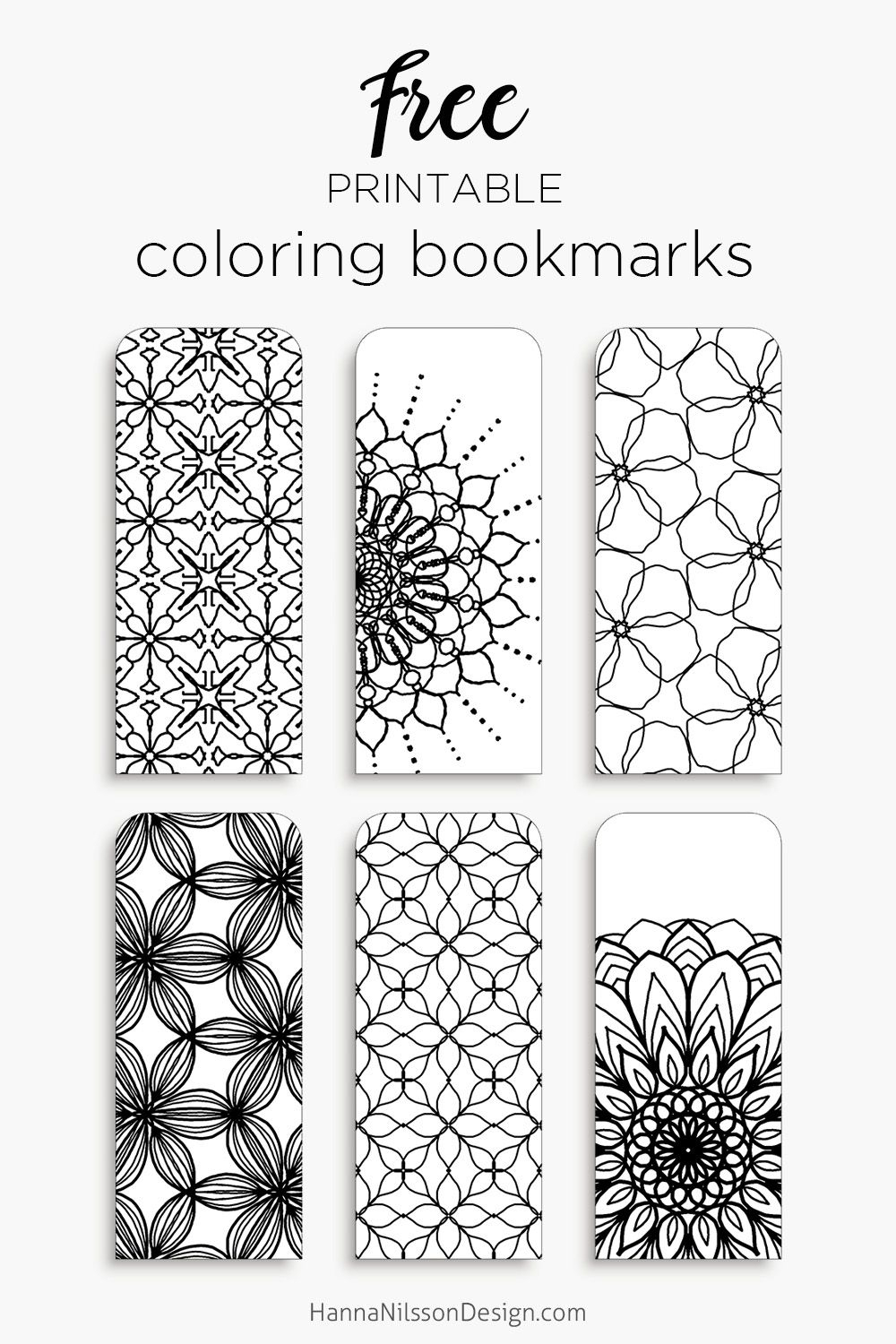 Coloring Bookmarks – Print, Color And Read   Hanna Nilsson Design - Free Printable Blank Bookmarks