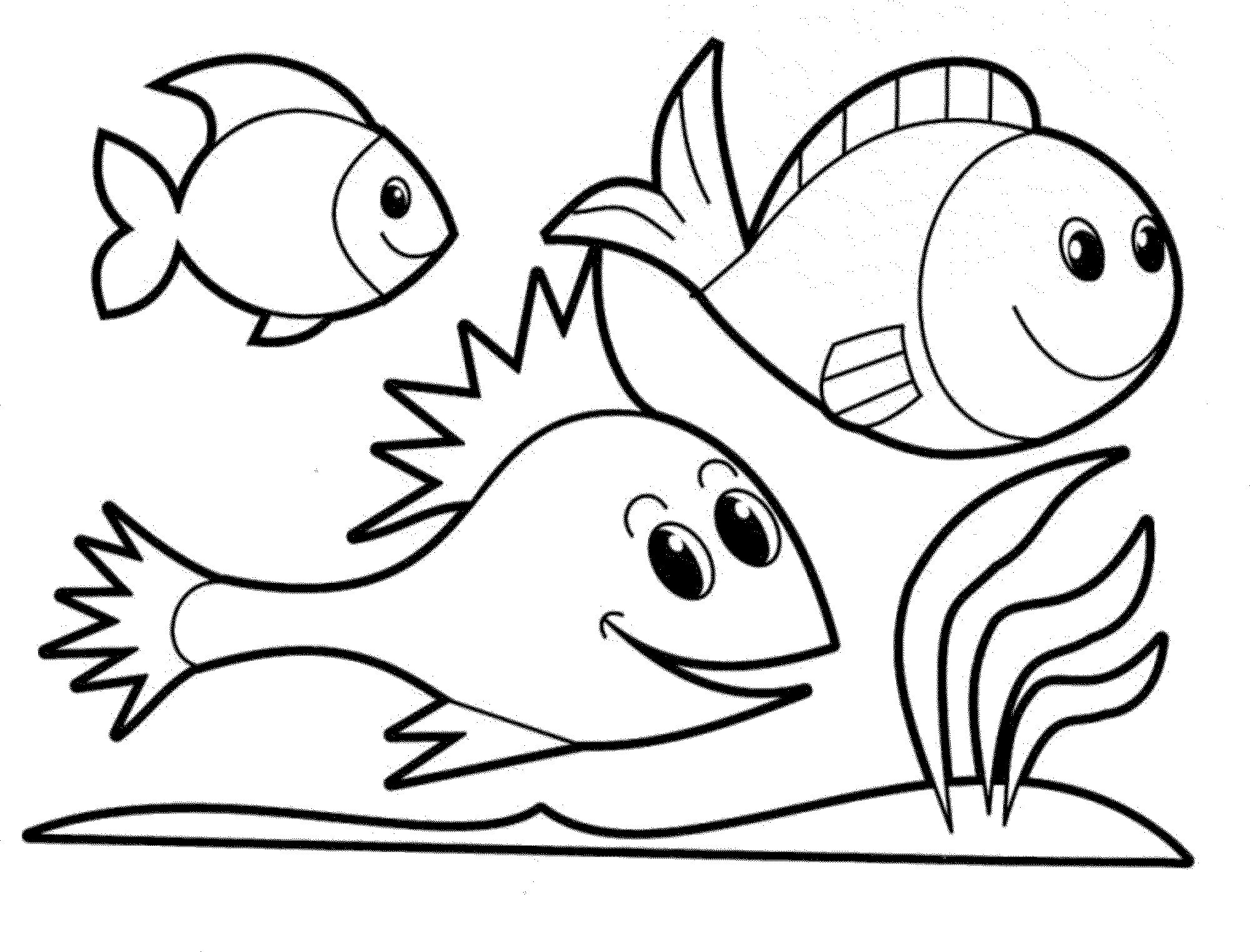 Coloring Fish Free Printable Fish Coloring Pages For Kids - Free Printable Fish Coloring Pages