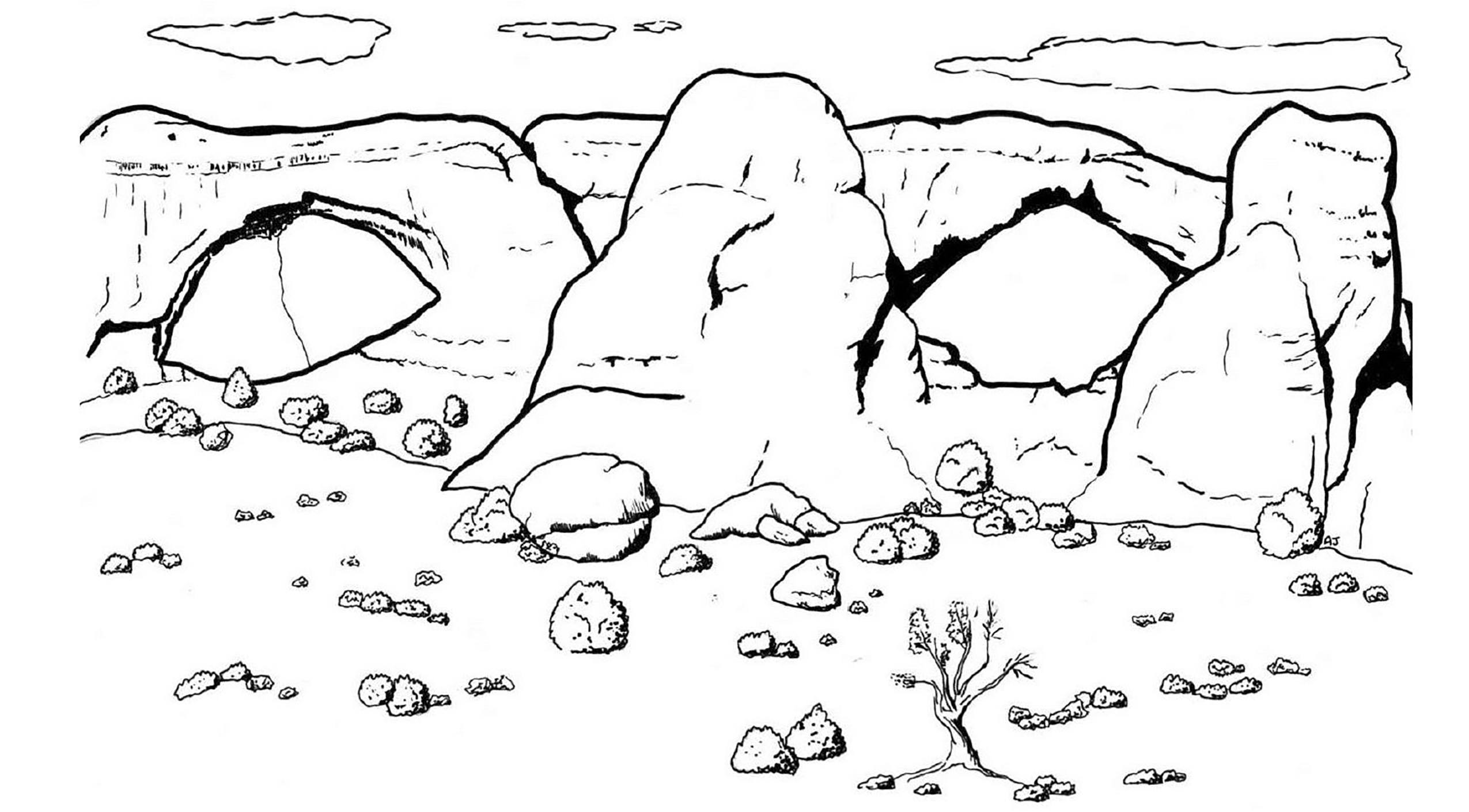 Coloring Pages - Arches National Park (U.s. National Park Service) - Free Printable South Park Coloring Pages
