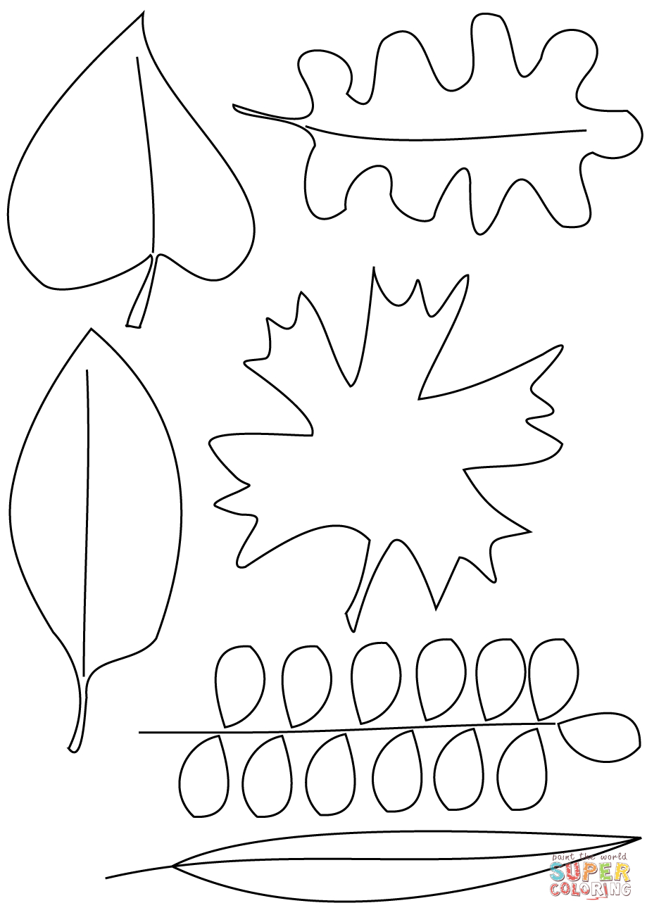 Coloring Pages : Autumn Leaves Coloring Pages Page Free Printable - Free Printable Leaf Coloring Pages