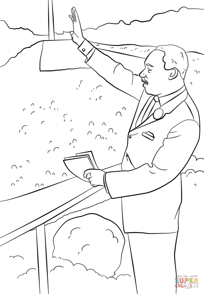 Coloring Pages : Coloring Pages For Adults Printable Martin Luther - Martin Luther King Free Printable Coloring Pages