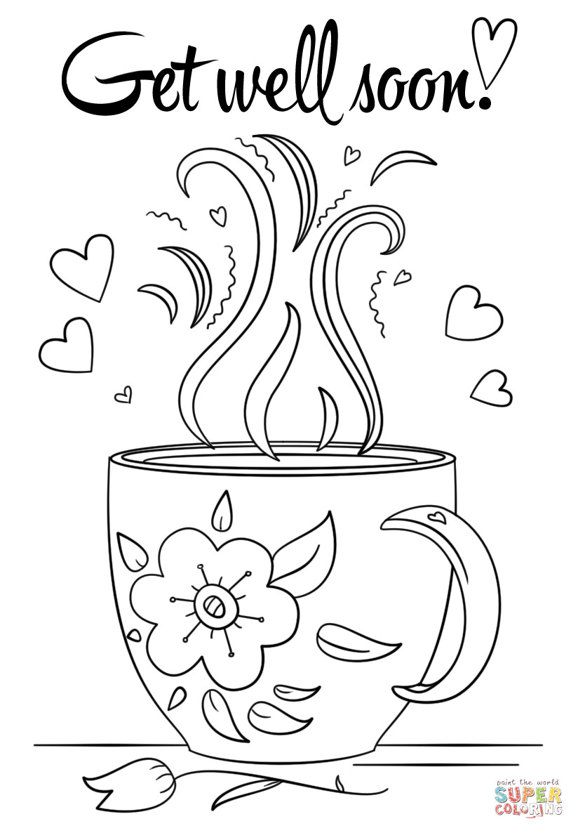Coloring Pages ~ Coloring Pages Get Well Soon Sheet With Doodle Page - Free Printable Get Well Cards To Color