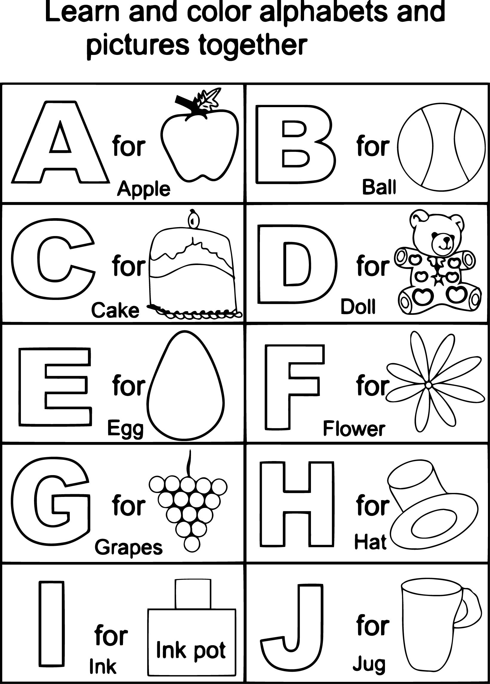 Coloring Pages : Coloring Pages Tremendous Free Printable Alphabet - Free Printable Preschool Alphabet Coloring Pages