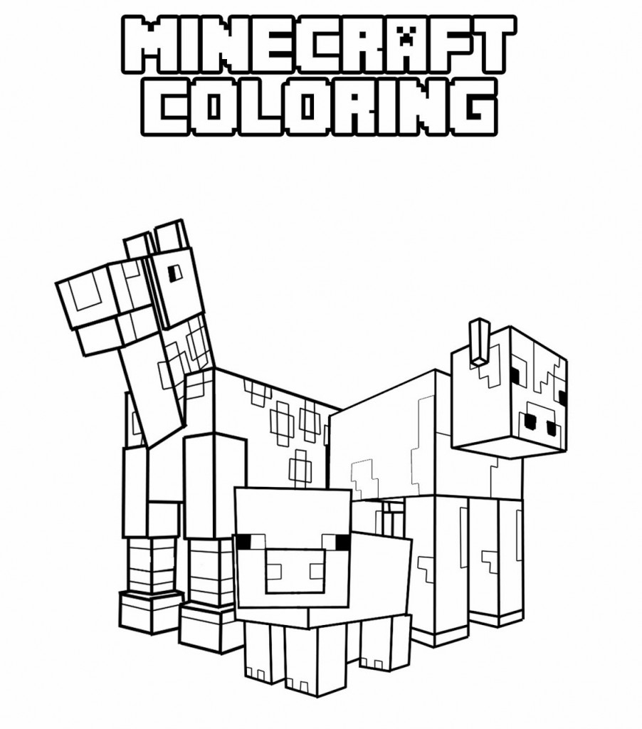 Coloring Pages : Coloring Pagesintable Minecraft Fabulous Picture - Free Printable Minecraft Activity Pages