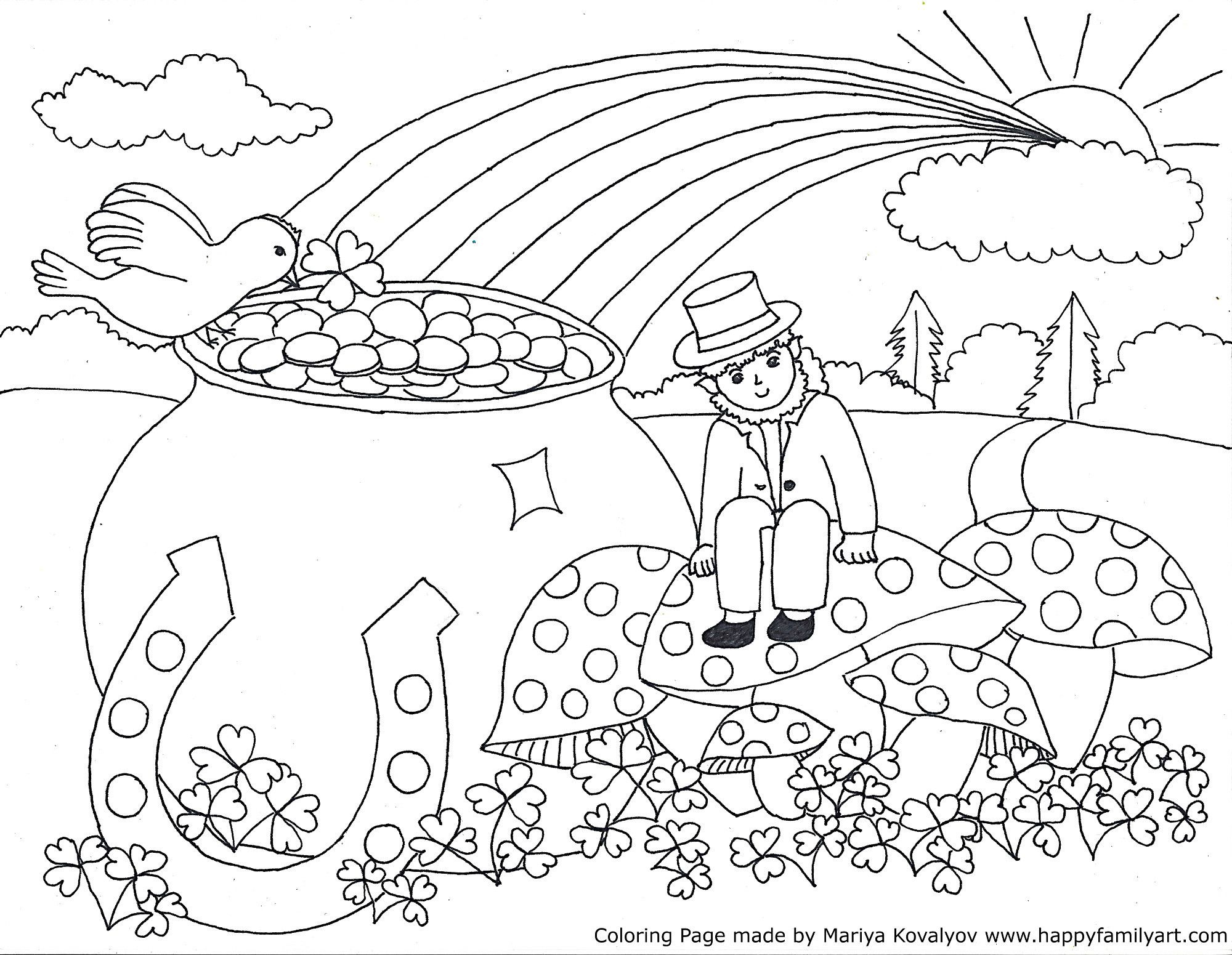Coloring Pages : Coloring Pagesree Sheetsor Kindergarten St Patricks - Free Printable Saint Patrick Coloring Pages