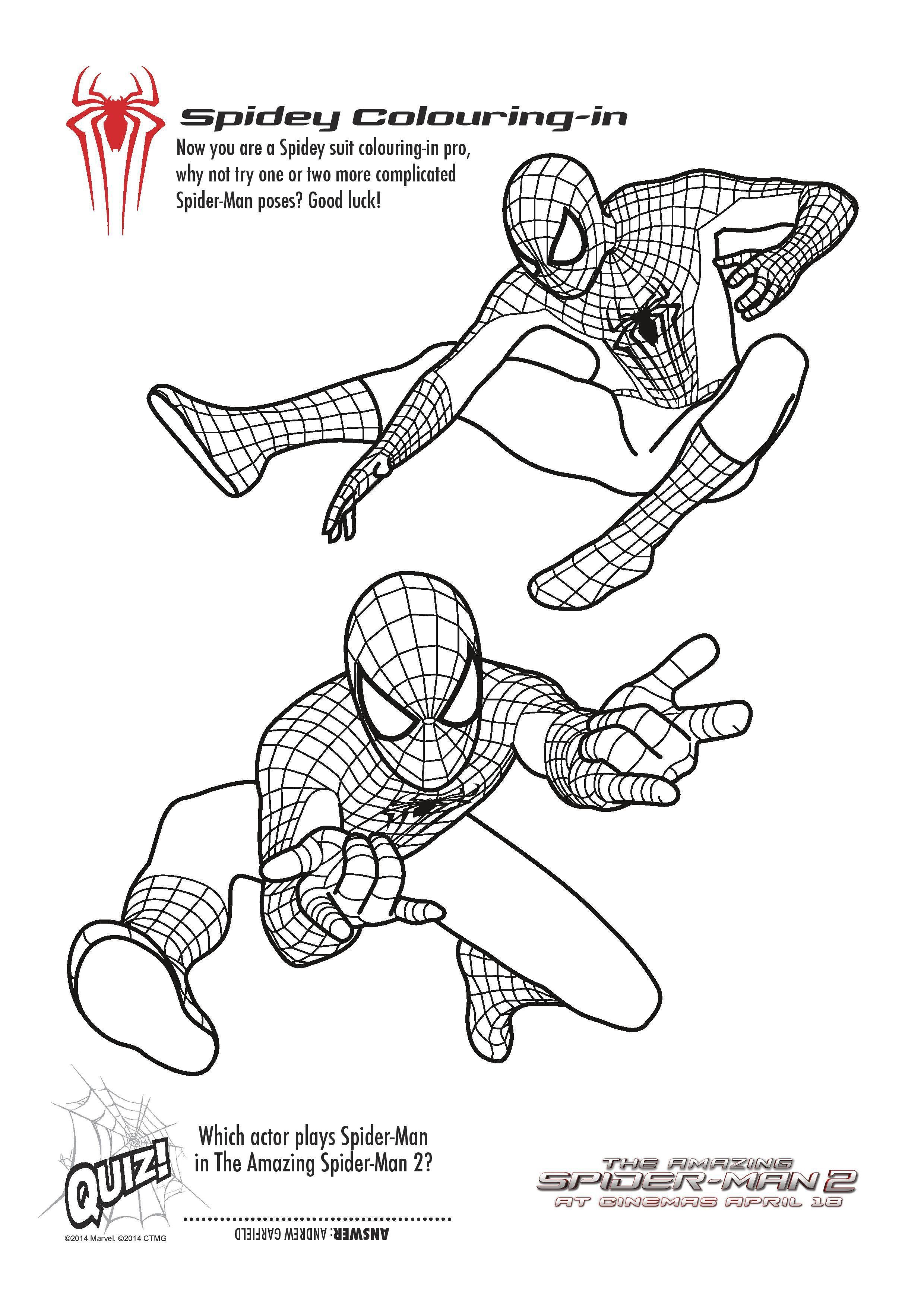 Coloring Pages : Coloringges Free Printable Spiderman Colouring And - Free Printable Spiderman Coloring Pages
