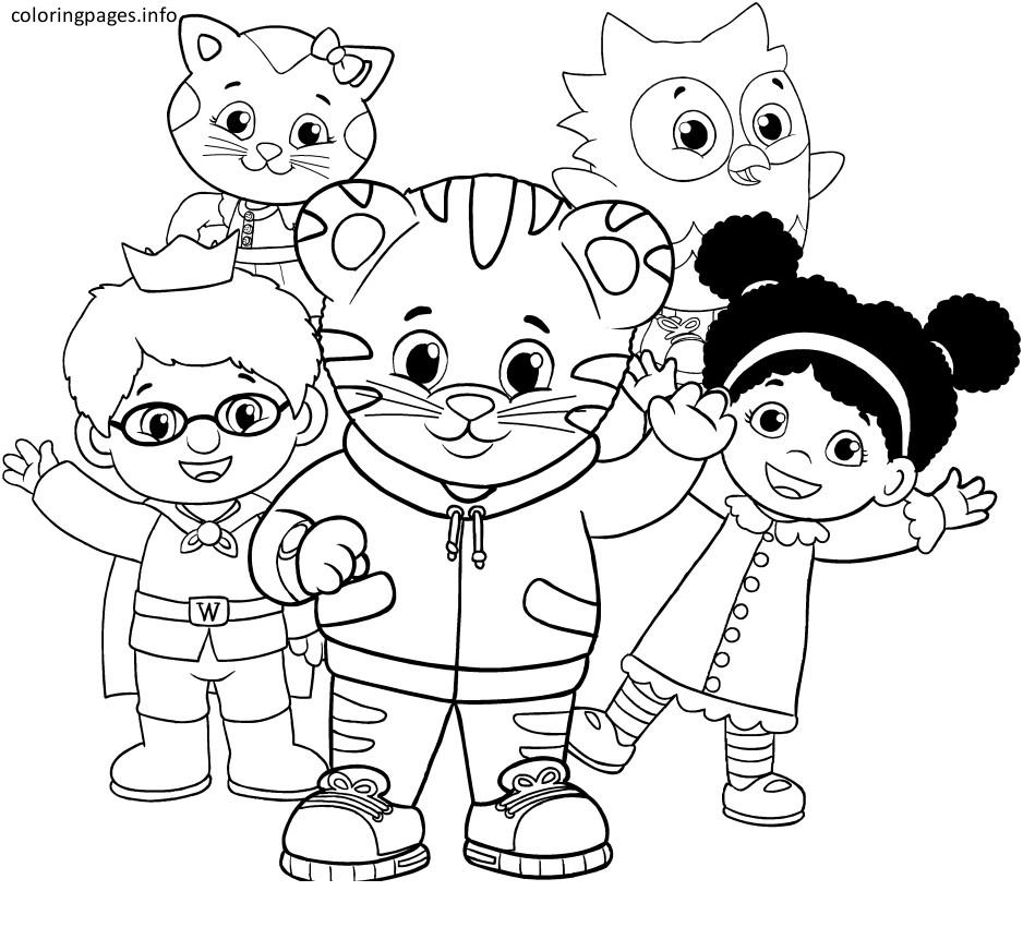 Coloring Pages ~ Daniel Tiger Coloring Pages With Image 58 Daniel - Free Printable Daniel Tiger Coloring Pages