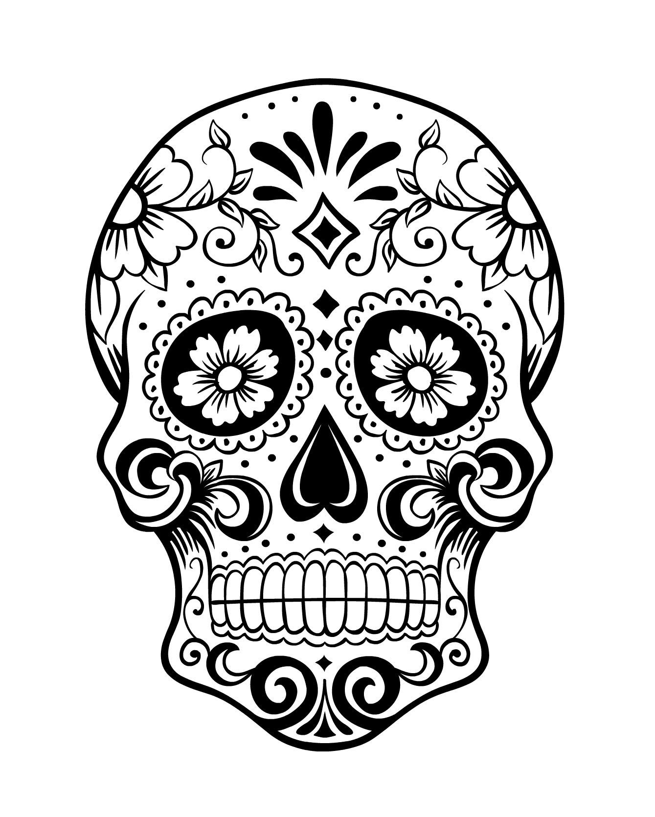 Coloring Pages : Day Of The Coloring Pages Free Sugar Skull Page - Free Printable Sugar Skull Coloring Pages