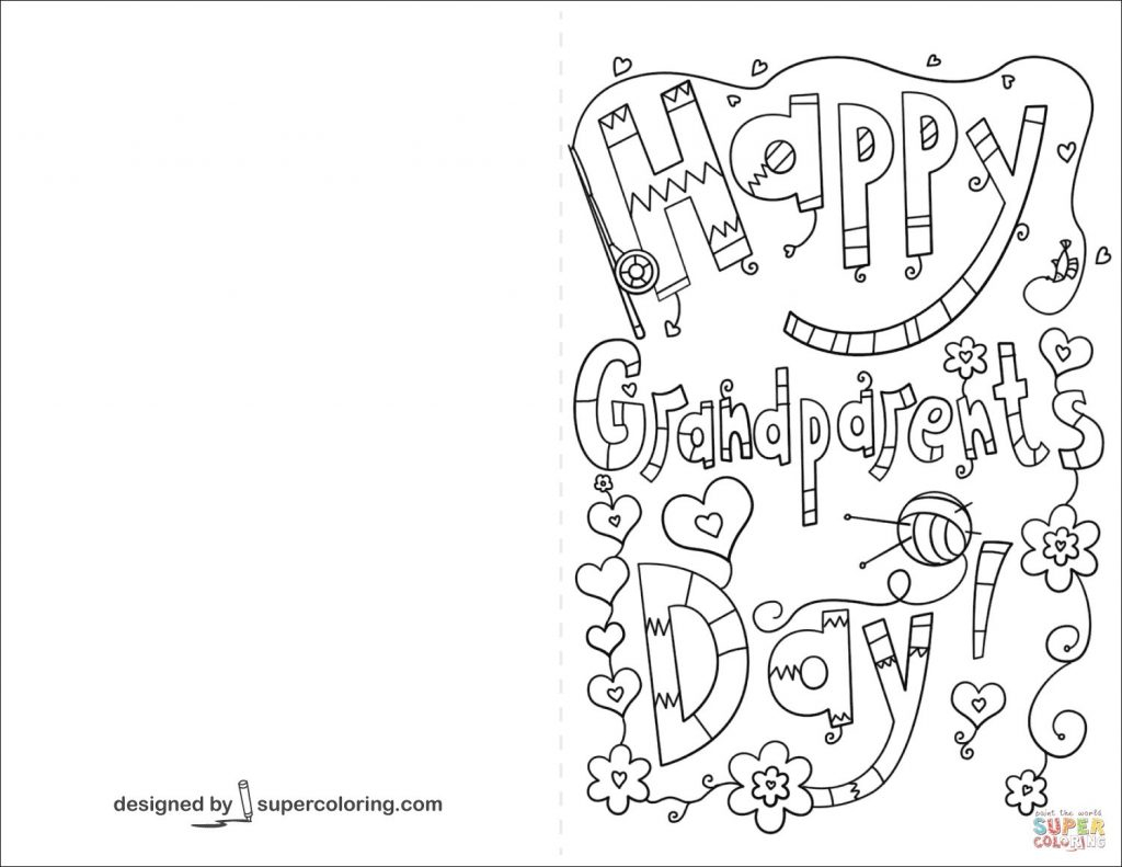Coloring Pages ~ For Grandparents Dayles Cards Coloring Pages - Grandparents Certificate Free Printable