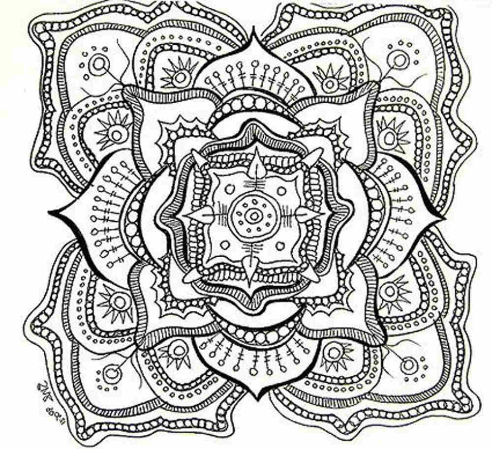 Coloring Pages : Free Mandala Coloring Pages For Adults Printables - Free Printable Hard Coloring Pages For Adults